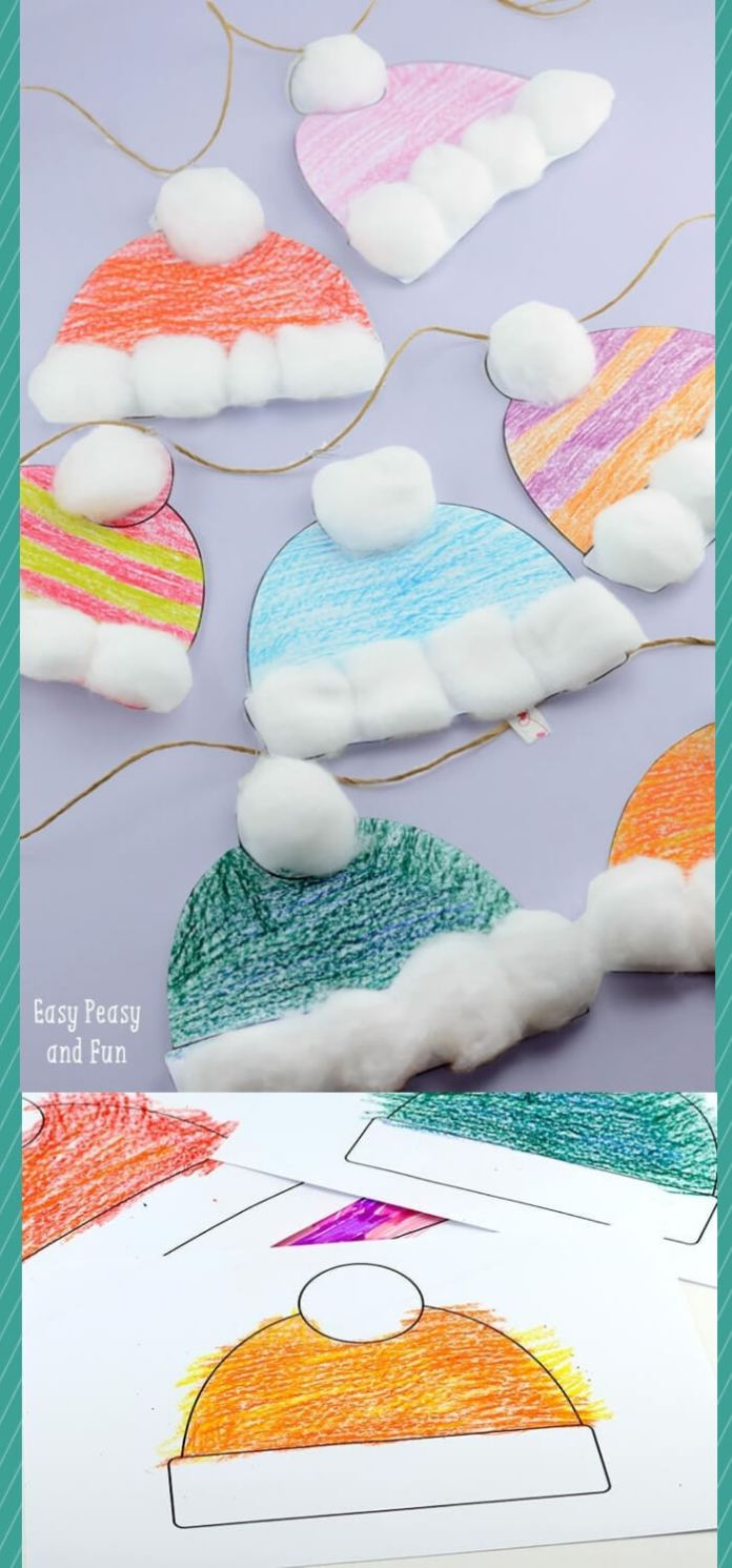 Winter Hats Craft for Kids | Christmas Craft Ideas for Preschoolers