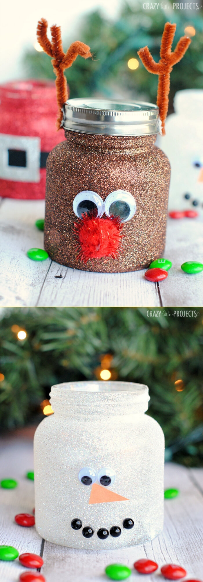 Christmas Treat Jars | Christmas Spirit Jars Ideas | FarmFoodFamily.com