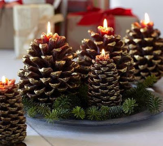 Candle Pinecone