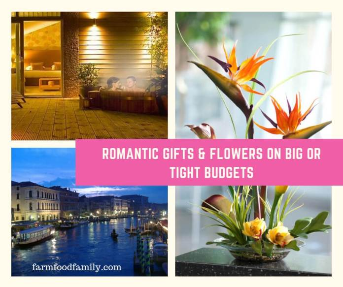 Romantic Gifts & Flowers on Big or Tight Budgets For Him or Her