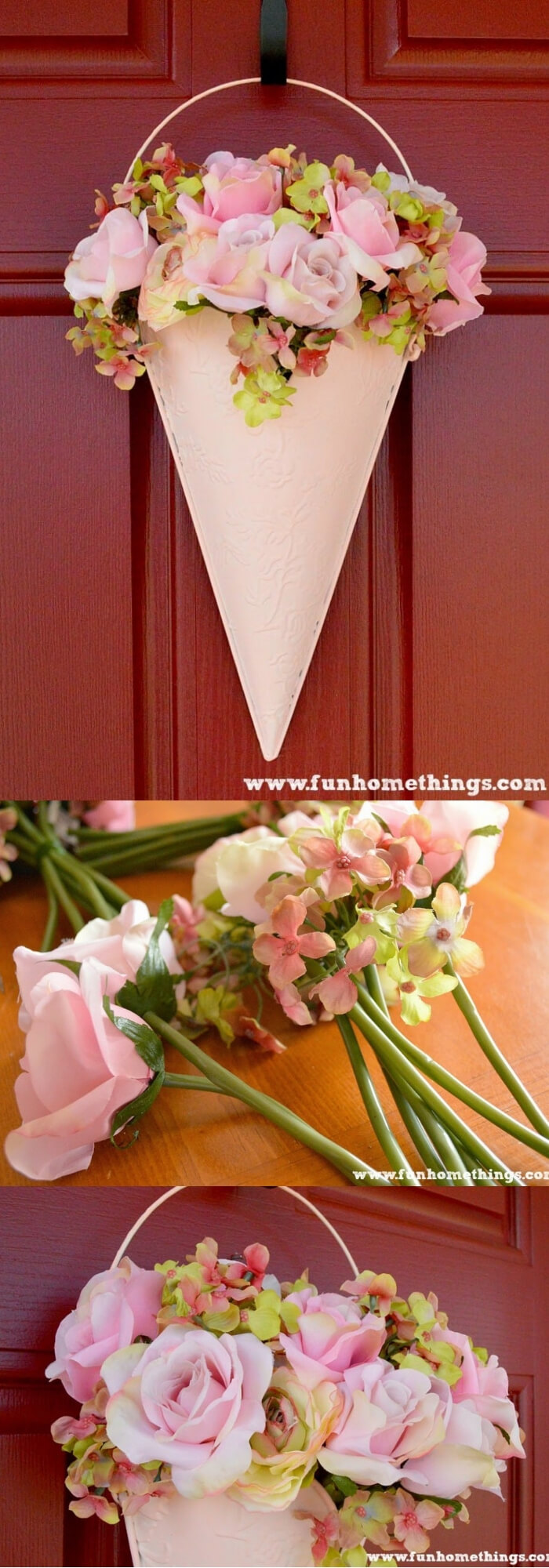 Easy and Simple DIY Spring Wreath Ideas | Spring Floral Door Hanging