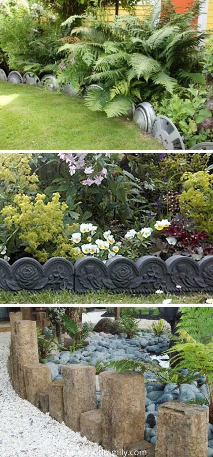 Decorative garden edging ideas