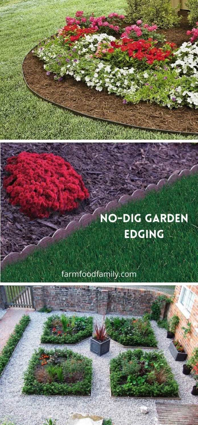 No-dig garden edging ideas