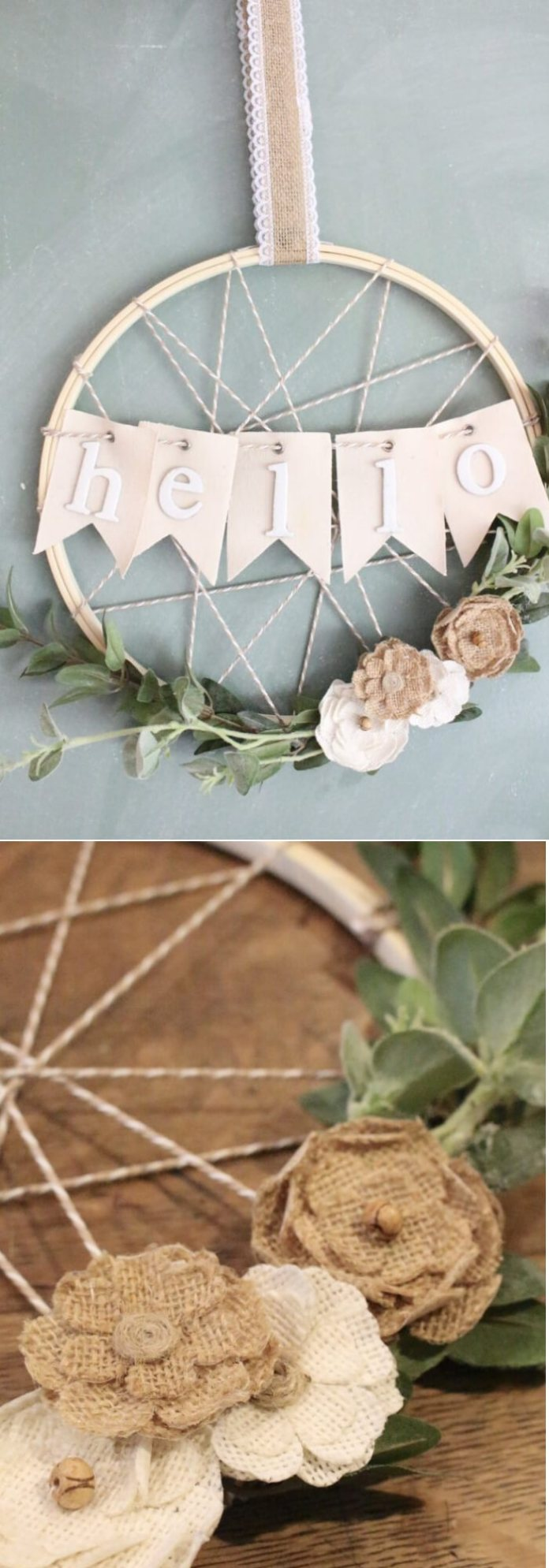 Easy and Simple DIY Spring Wreath Ideas | DIY Embroidery Hoop Wreath