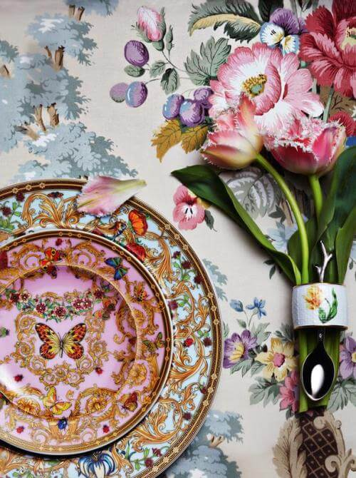 Home Decorating Ideas With Flowers: Boho floral tablescape