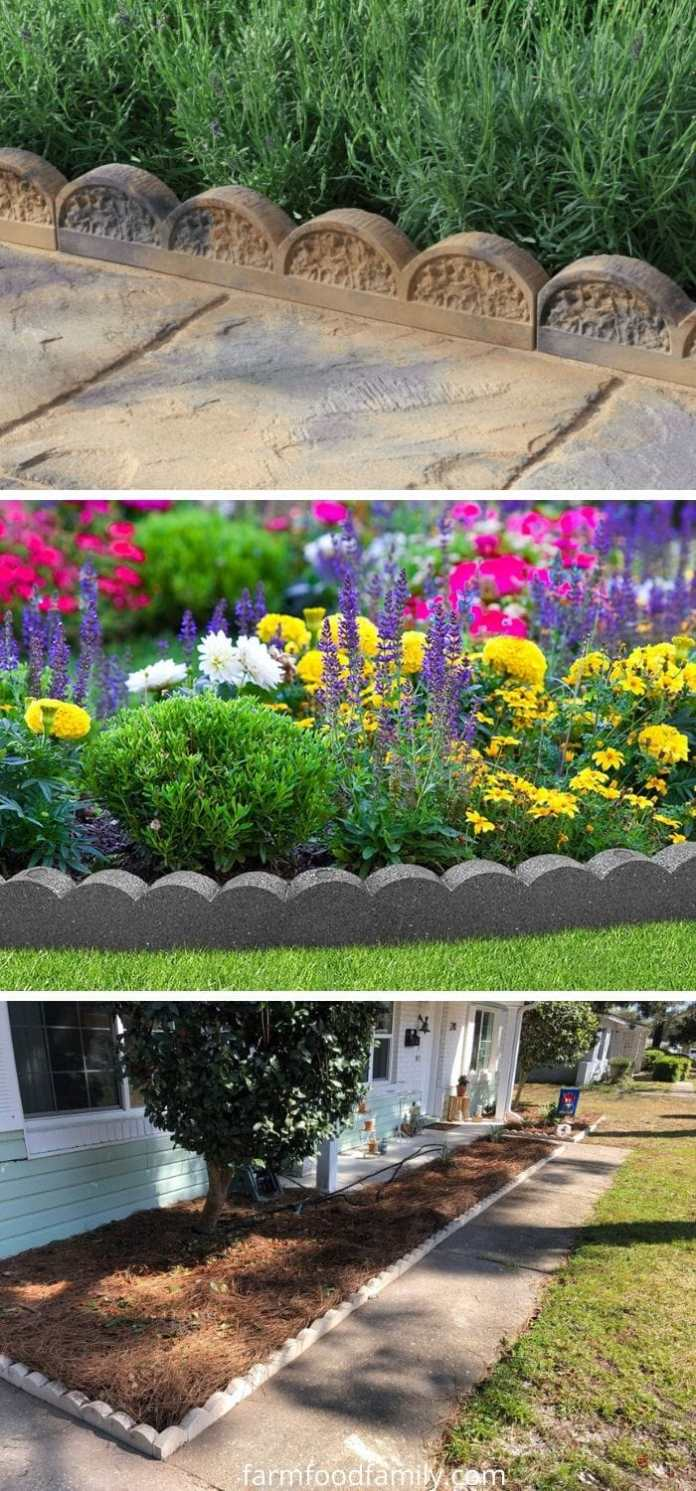 Scalloped garden edging