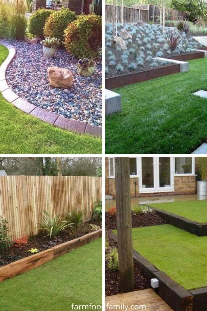 Cheap lawn edging ideas