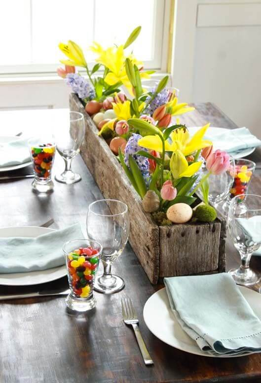 Indoor Easter Gardening | Spring Spruce-Up - Quick, Cheap Home Décor Ideas | FarmFoodFamily.com