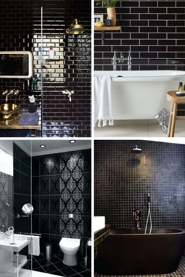 Black Bathroom Tile Ideas 3 | Bathroom Tile Design: Ideas for Incorporating Tile into the Bathroom Design