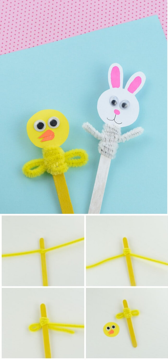 Easter Craft Stick Puppets | Easy & Fun Easter Crafts For Kids