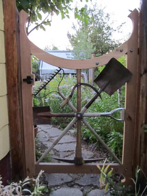 Garden Gate | Best DIY Repurposed Garden Tools Ideas | Garden Craft Ideas