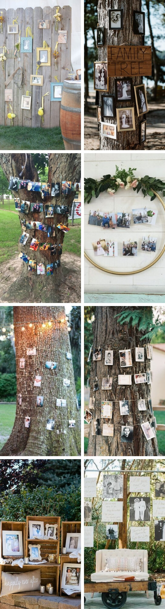 Photo Display Ideas For Wedding | Creative & Rustic Backyard Wedding Ideas For Summer & Fall