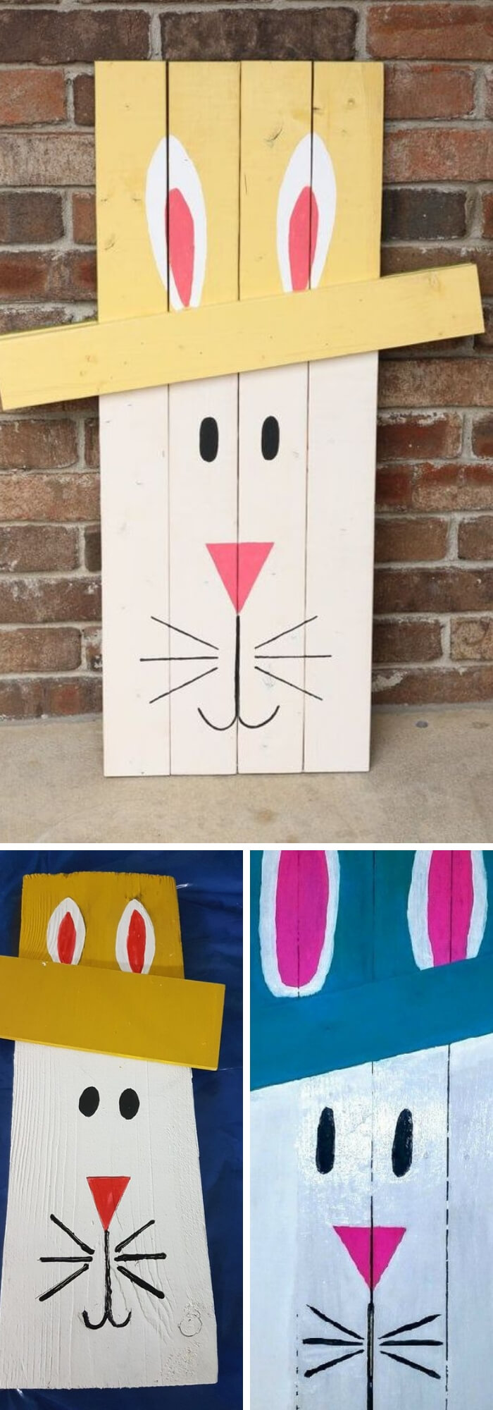 Wood board bunny | Best Easter Porch Decorating Ideas