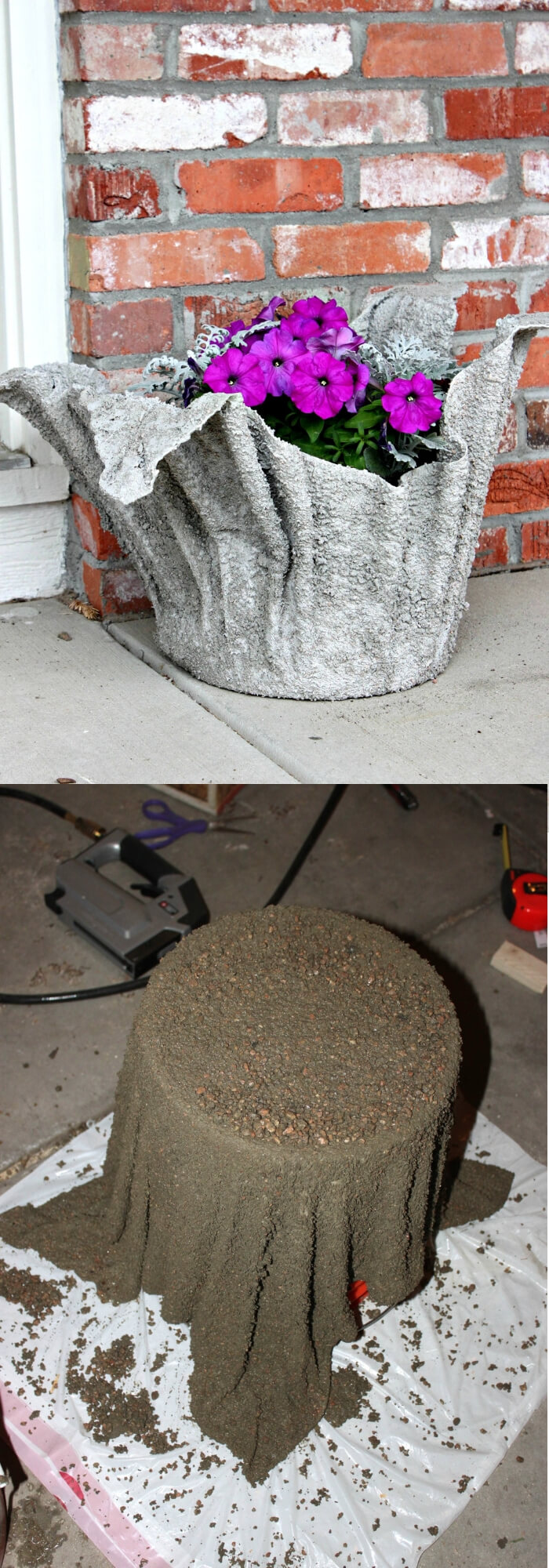 Concrete Flower Planter