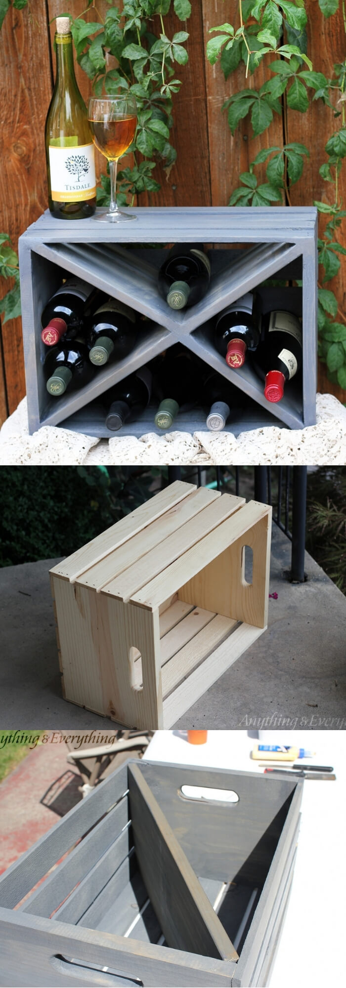 Crate Wine Rack | Best DIY Wood Crate Projects & Ideas