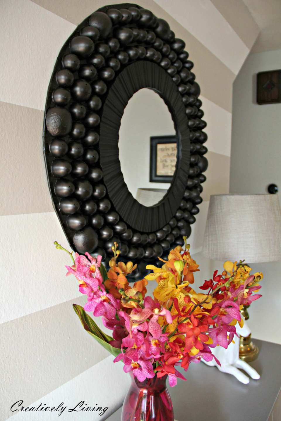 DIY Bubble Mirror | Best Entryway Mirror Decor Ideas
