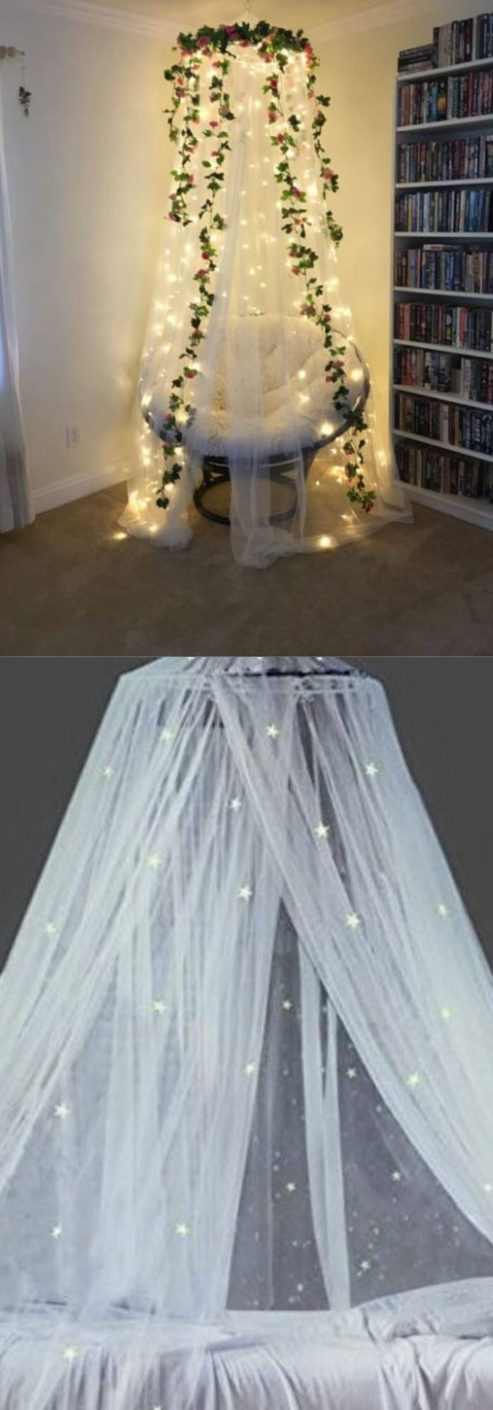 Reading nook | Best Fairy Light Decoration Ideas