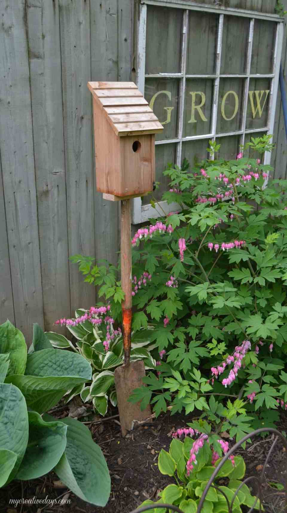 Repurposed Bird House | Best DIY Repurposed Garden Tools Ideas | Garden Craft Ideas