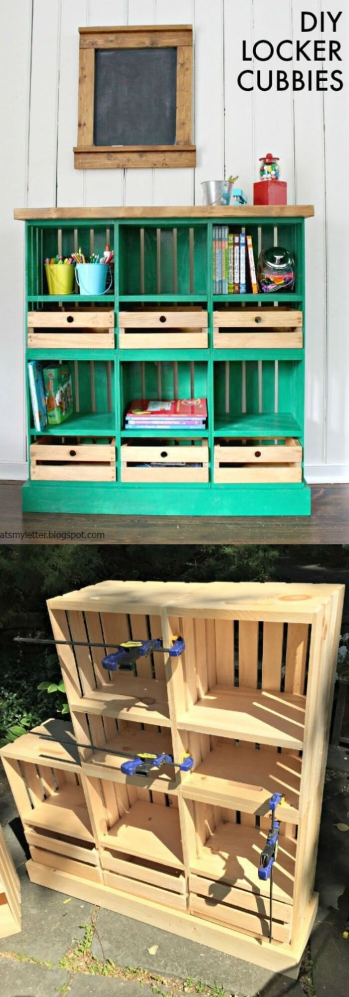 Crate Locker Cubbies | Best DIY Wood Crate Projects & Ideas