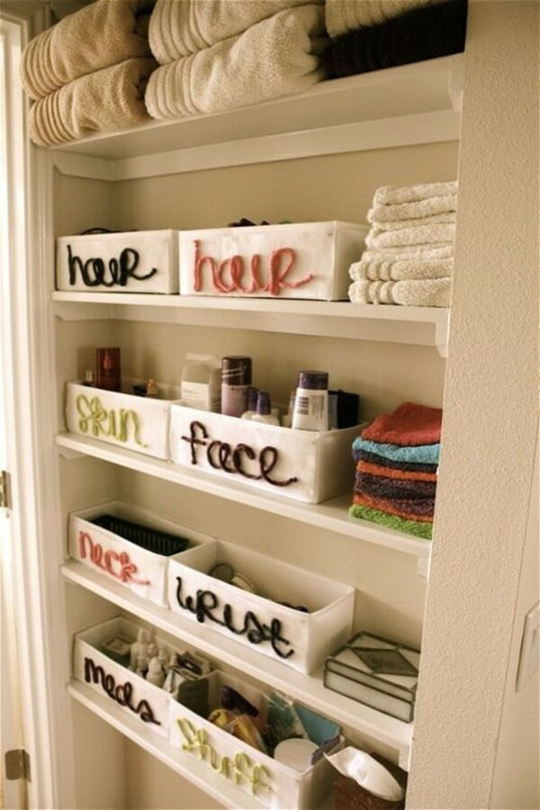 Shoe boxes | Best Small Bathroom Storage Designs & Ideas