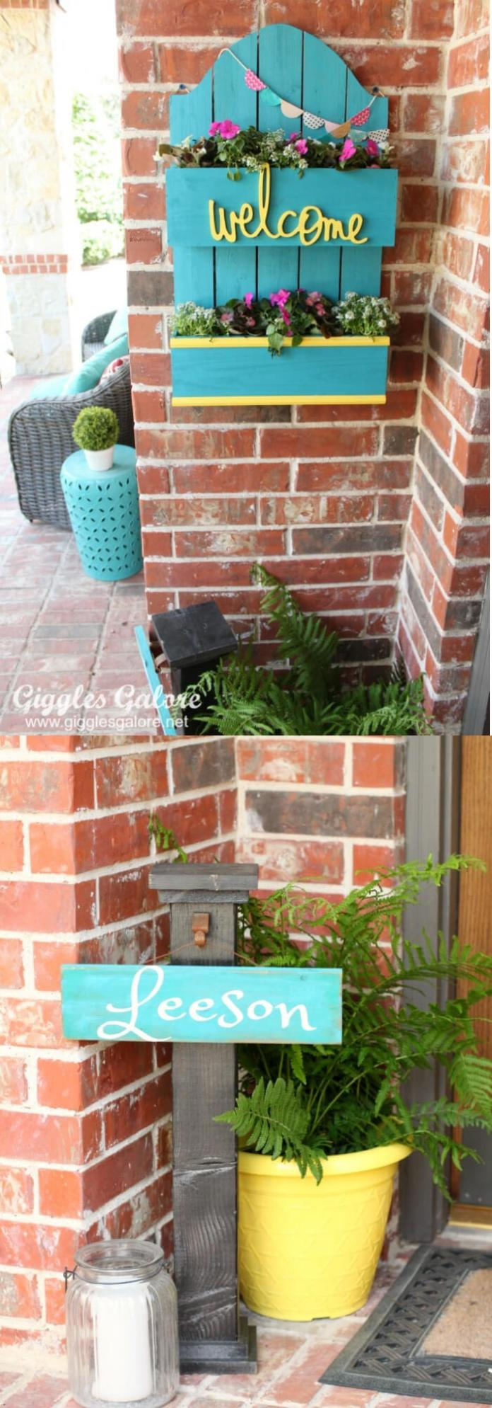 Spring Planter Box Welcome | Best Spring Porch Sign Decor Ideas & Designs