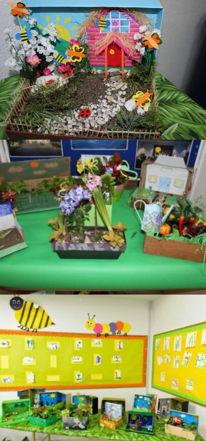 Shoe box Garden Display, by Year 1 and Year 2   Best Repurposed Garden Ideas Using Shoe Box