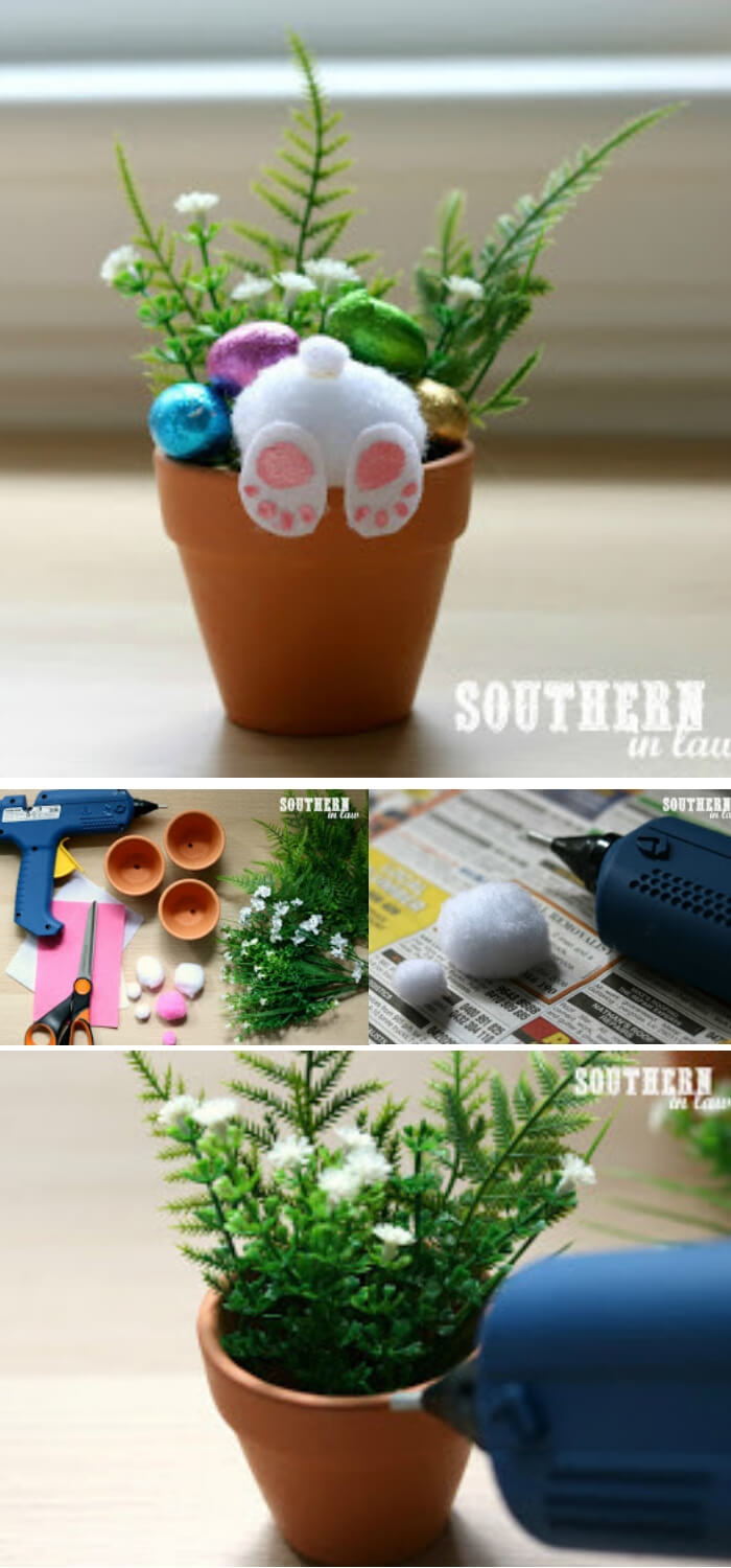 Easter Bunny Pots | Creative Easter Garden Projects & Ideas Your Kids Will Love