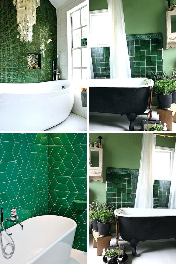 Green Bathroom Tile Ideas 3 | Bathroom Tile Design: Ideas for Incorporating Tile into the Bathroom Design