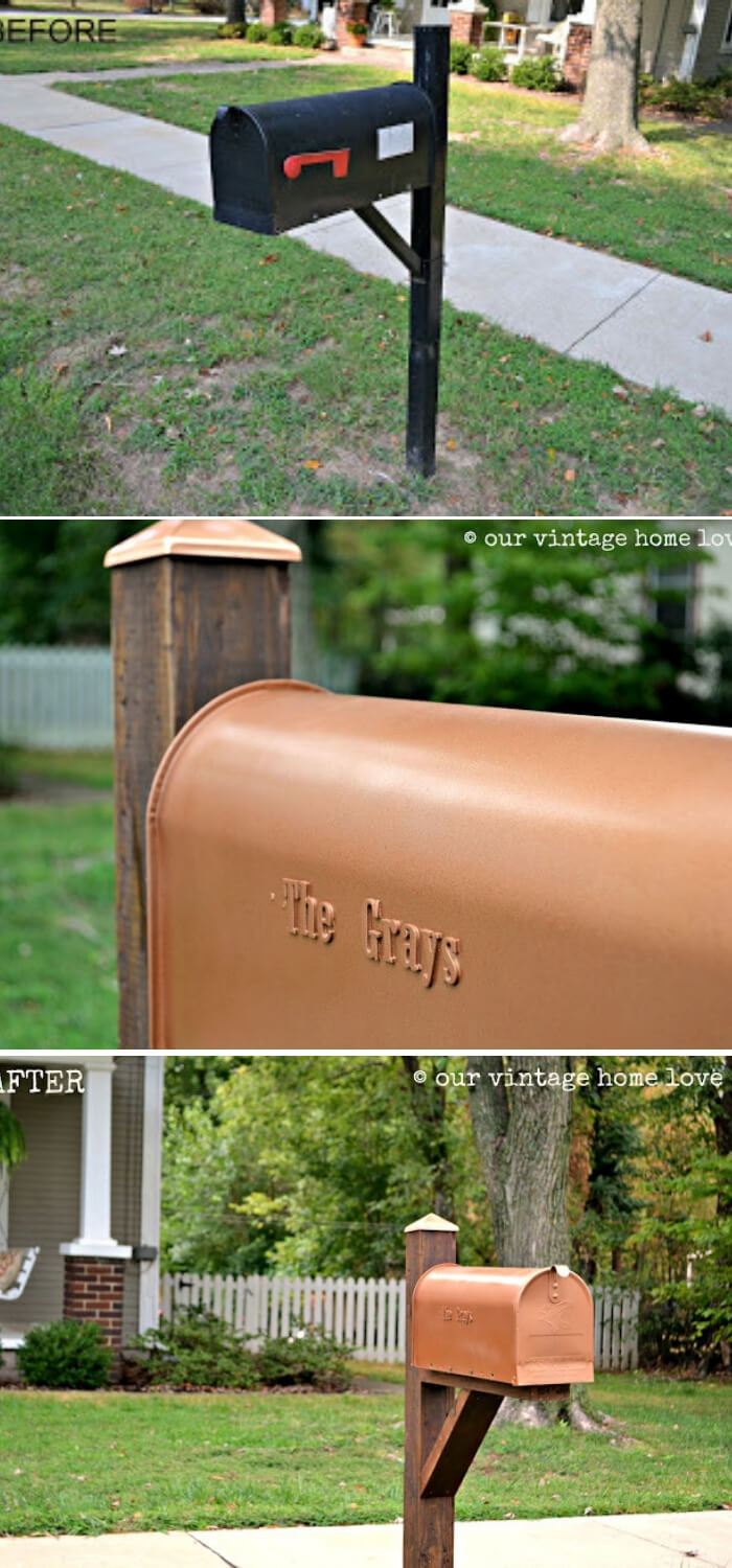 Before and after mailbox | Best Mailbox Landscaping Ideas