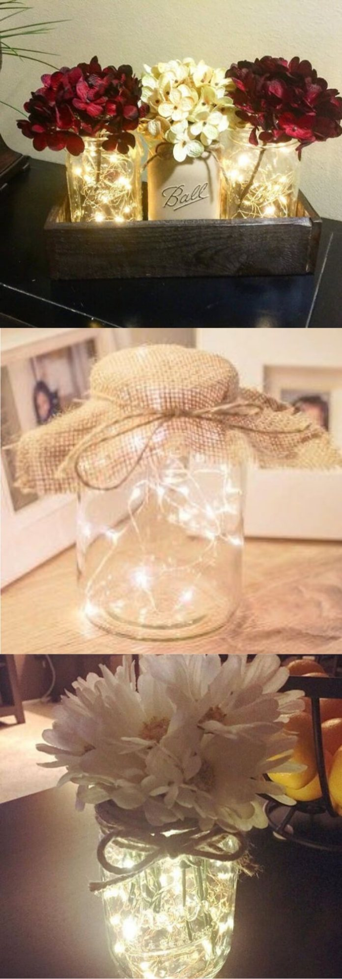 Light Mason Jar | Best Fairy Light Decoration Ideas