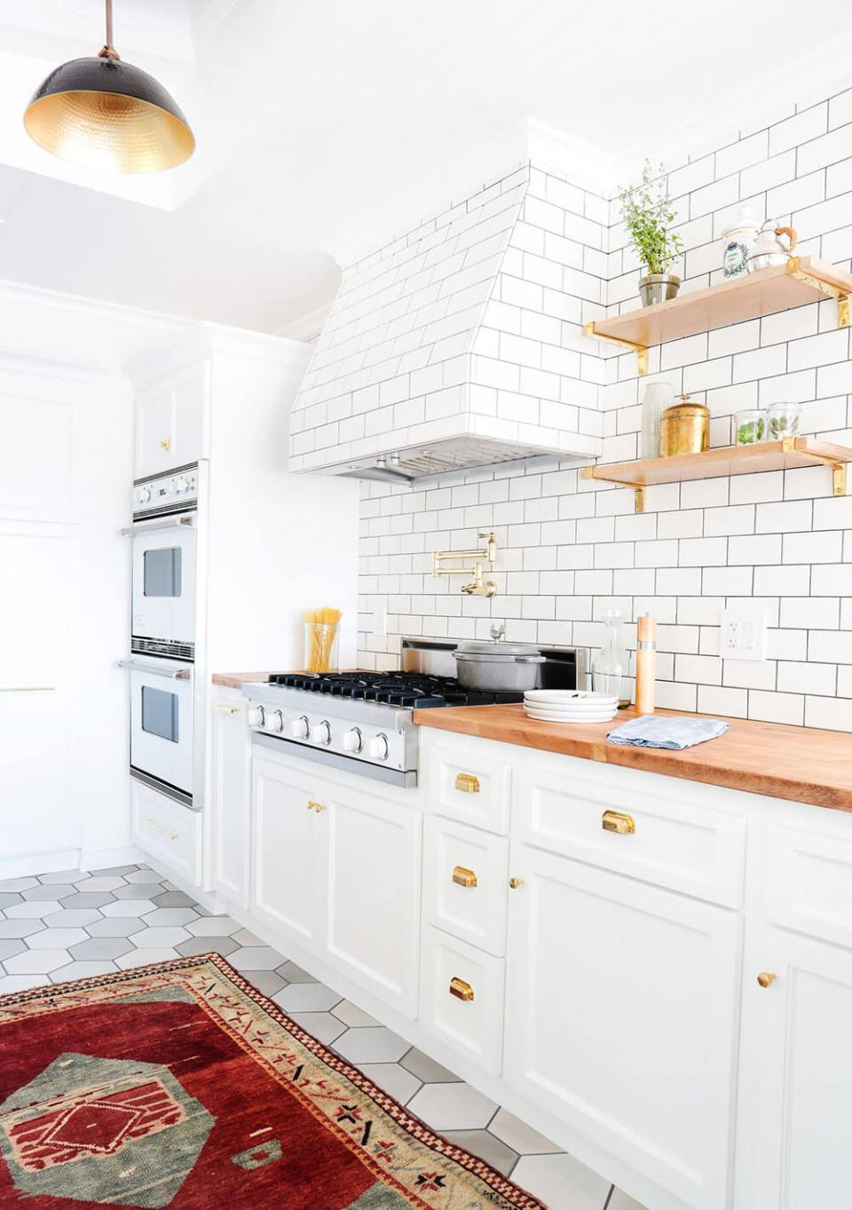 A Cool Silverlake Home Redesign | Best White Kitchen Cabinet Decor Ideas