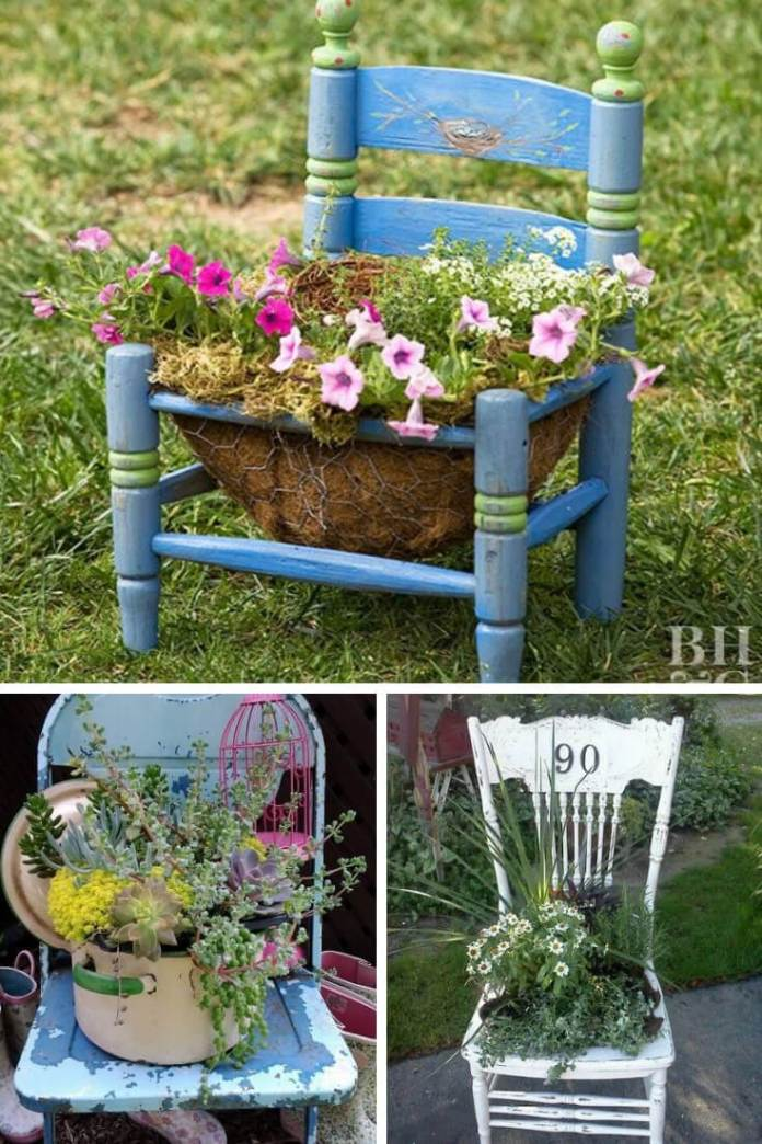 Creative Upcycled DIY Chair Planter Ideas For Your Garden