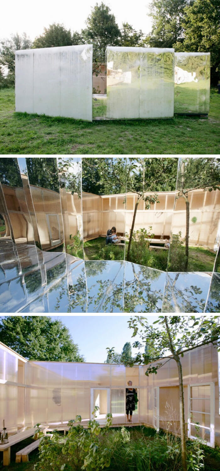 Backyard Pavilion ideas with mirrors