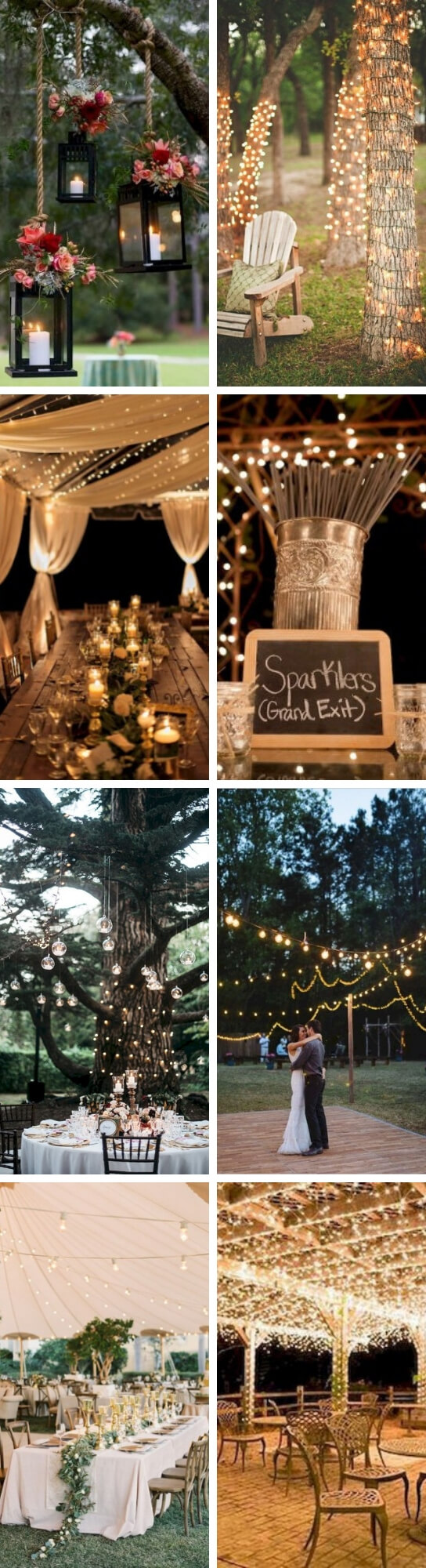 Backyard Wedding Lighting | Creative & Rustic Backyard Wedding Ideas For Summer & Fall