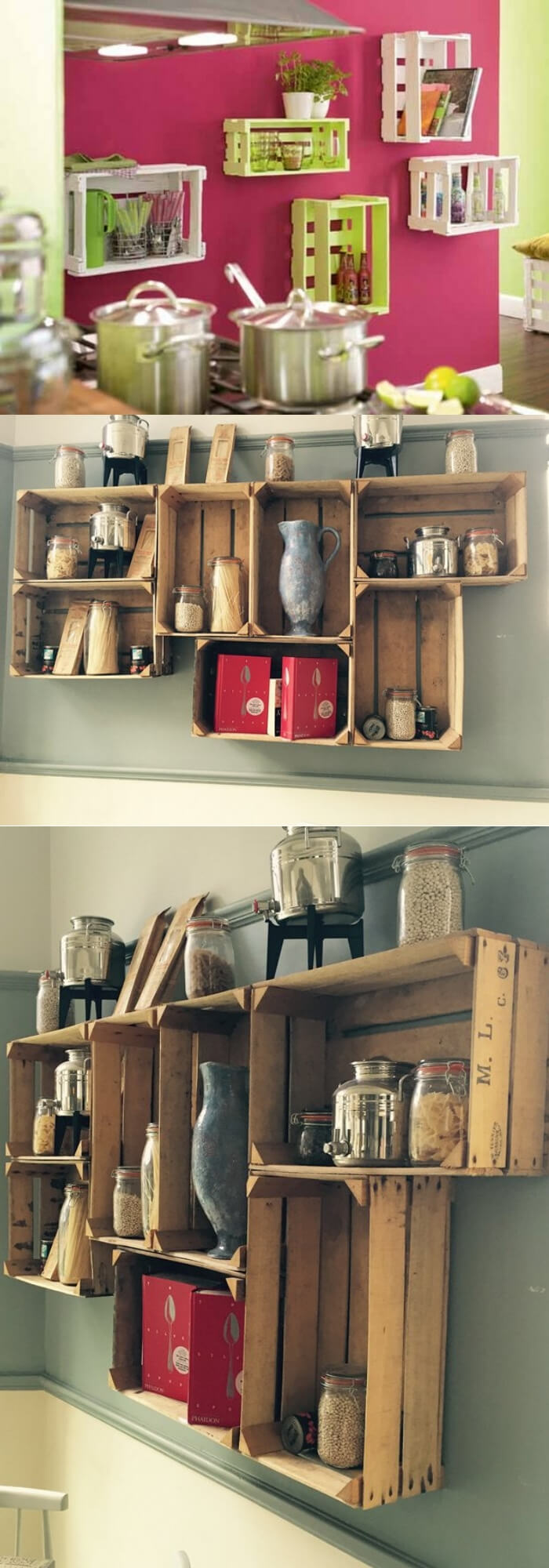 Storage bin for Kitchen | Best DIY Wood Crate Projects & Ideas