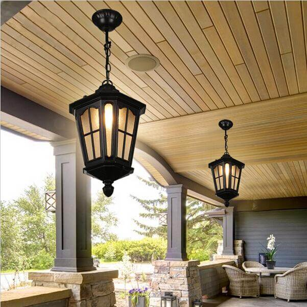 Waterproof outdoor porch lamp | Trending & Vintage Porch Lighting Ideas & Designs | FarmFoodFamily.com