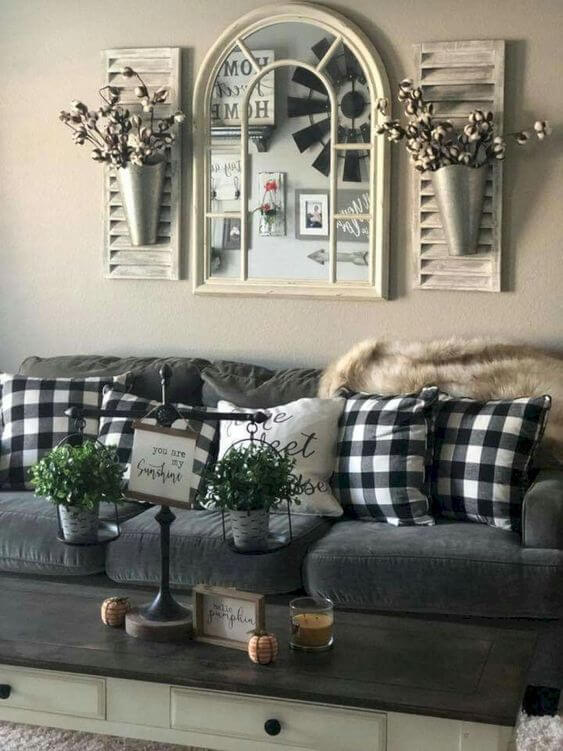 Best Farmhouse Living Room Decor & Design Ideas 13