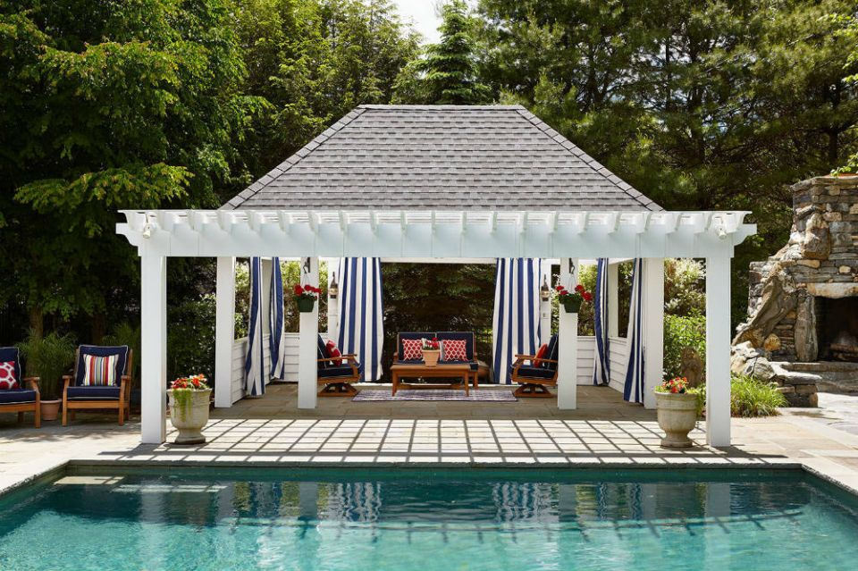 Backyard Pavilion ideas with pool