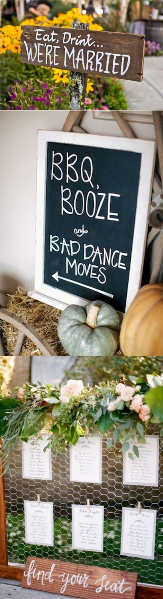 Wedding Welcome Sign | Creative & Rustic Backyard Wedding Ideas For Summer & Fall