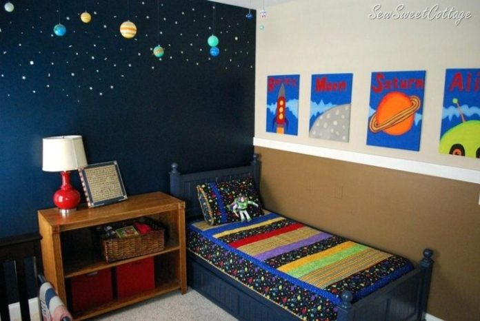 Space Themed room | Cool Bedroom Ideas For Boys
