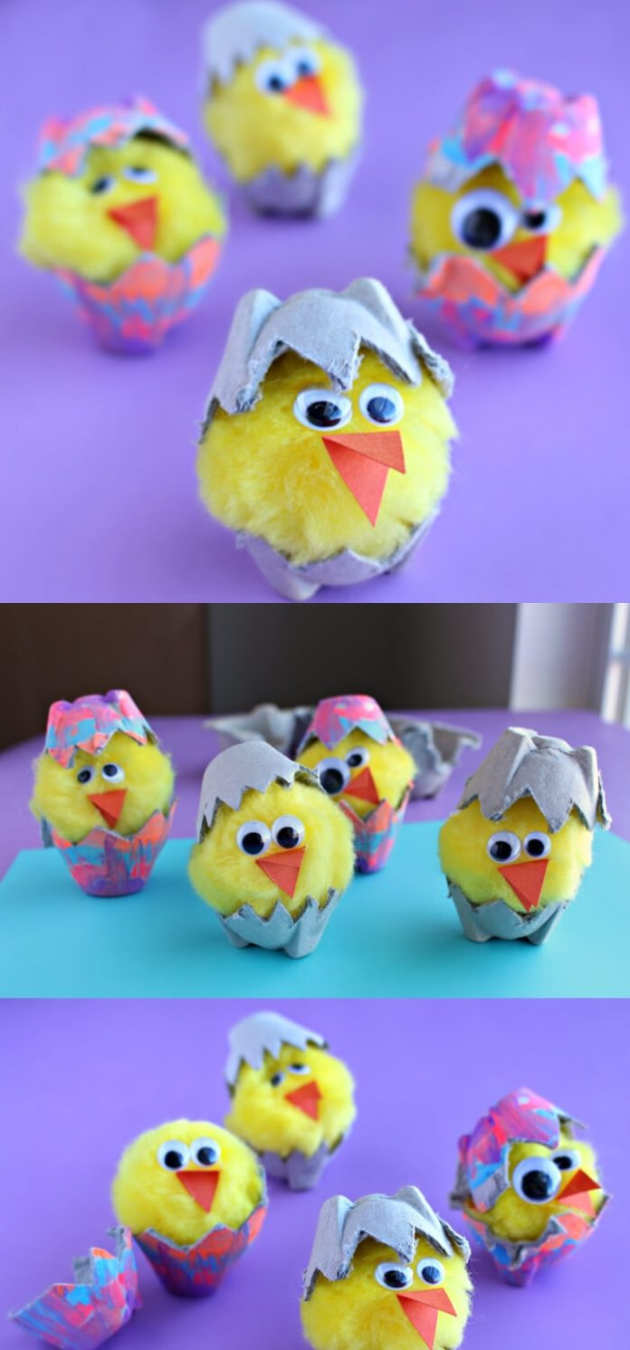 Egg Carton Hatching Chicks | Easy & Fun Easter Crafts For Kids