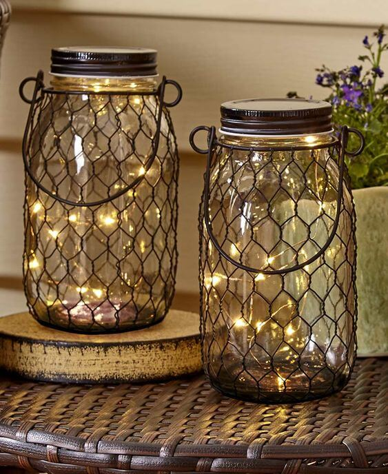 Fairy Light Jars | Best Fairy Light Decoration Ideas