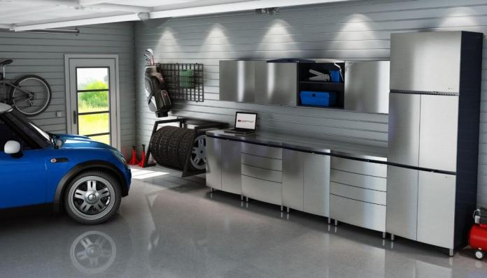 Silver Grey Garage Lighting Ideas | Best Garage Lighting Designs & Ideas