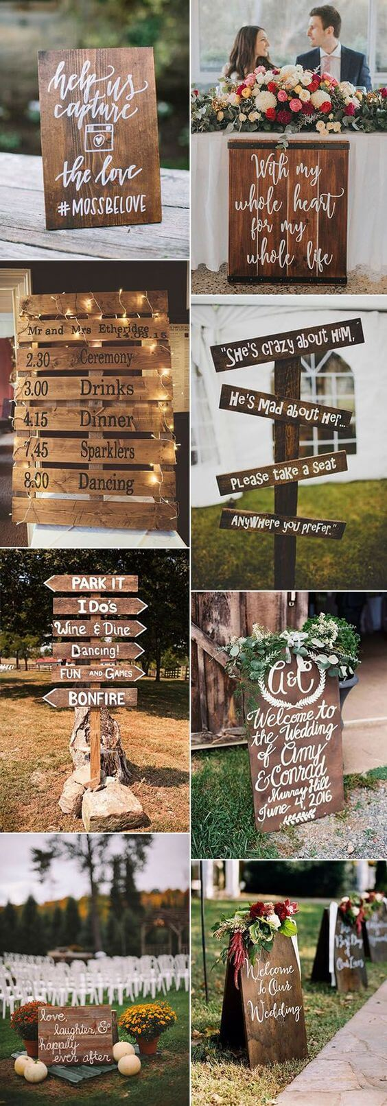 Welcome sign ideas for wedding | Creative & Rustic Backyard Wedding Ideas For Summer & Fall