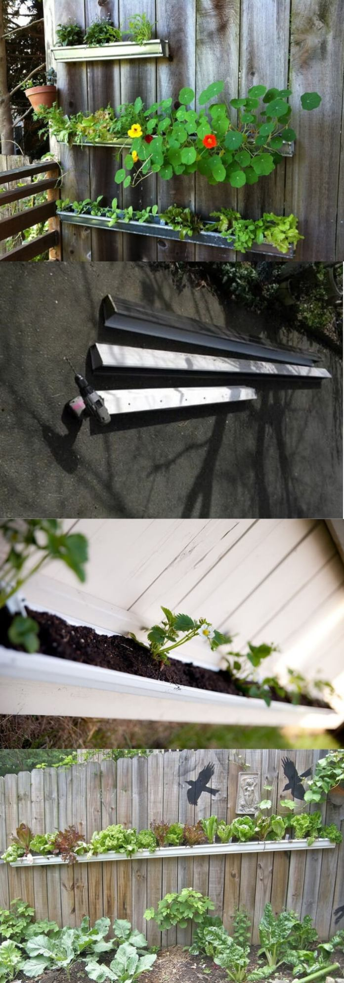 Use Gutters to Dress Up Your Fence