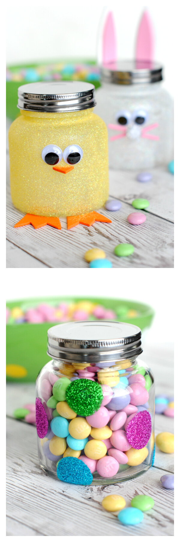 Easter candy jars | Easy & Fun Easter Crafts For Kids