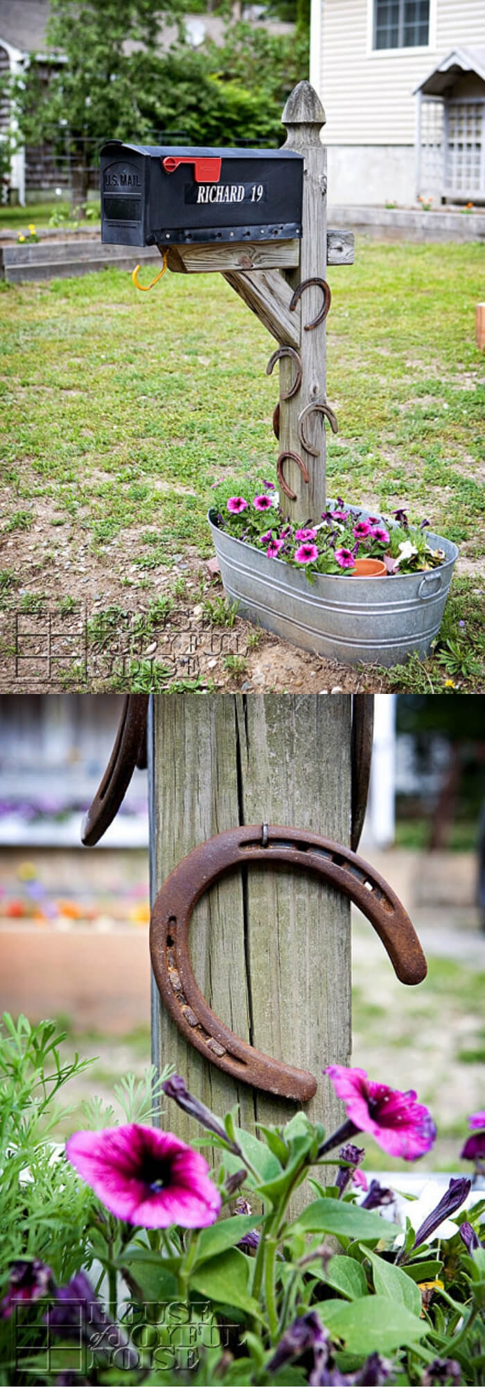 Mailbox from horse shoes | Best Mailbox Landscaping Ideas