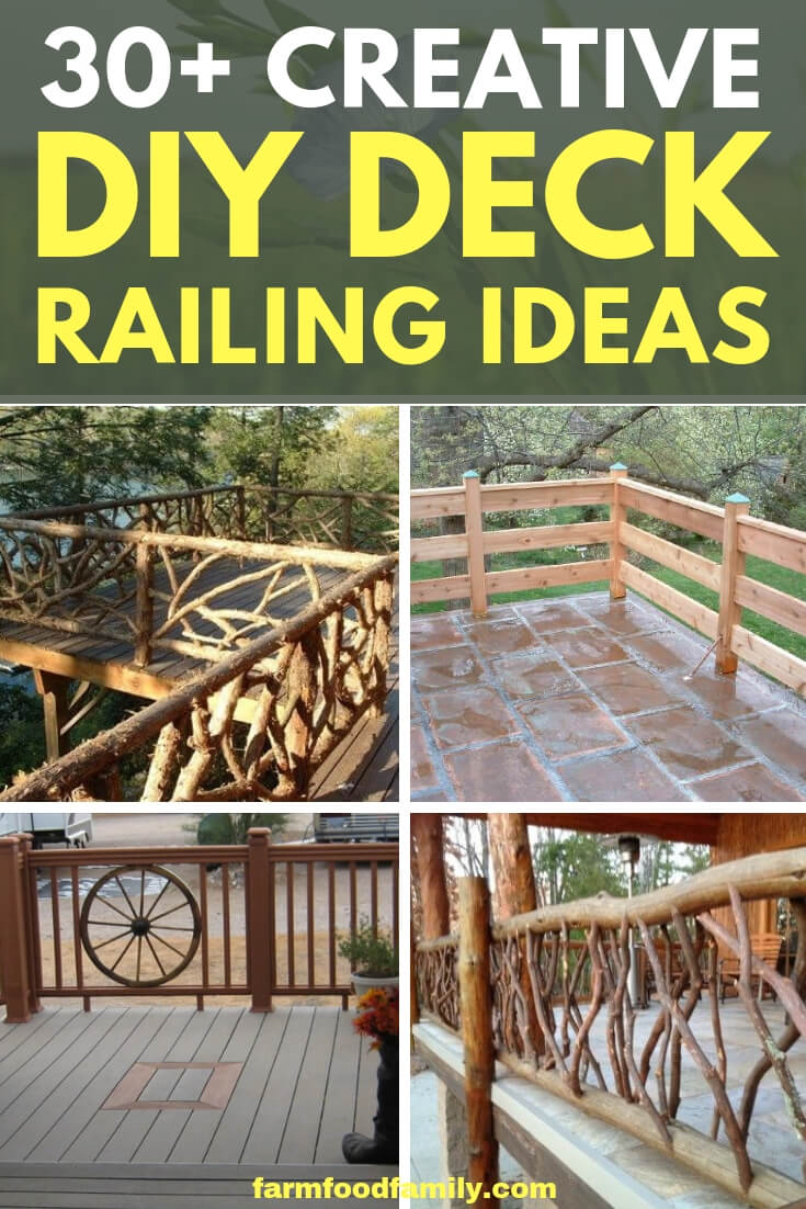 Awesome diy deck railing ideas and designs