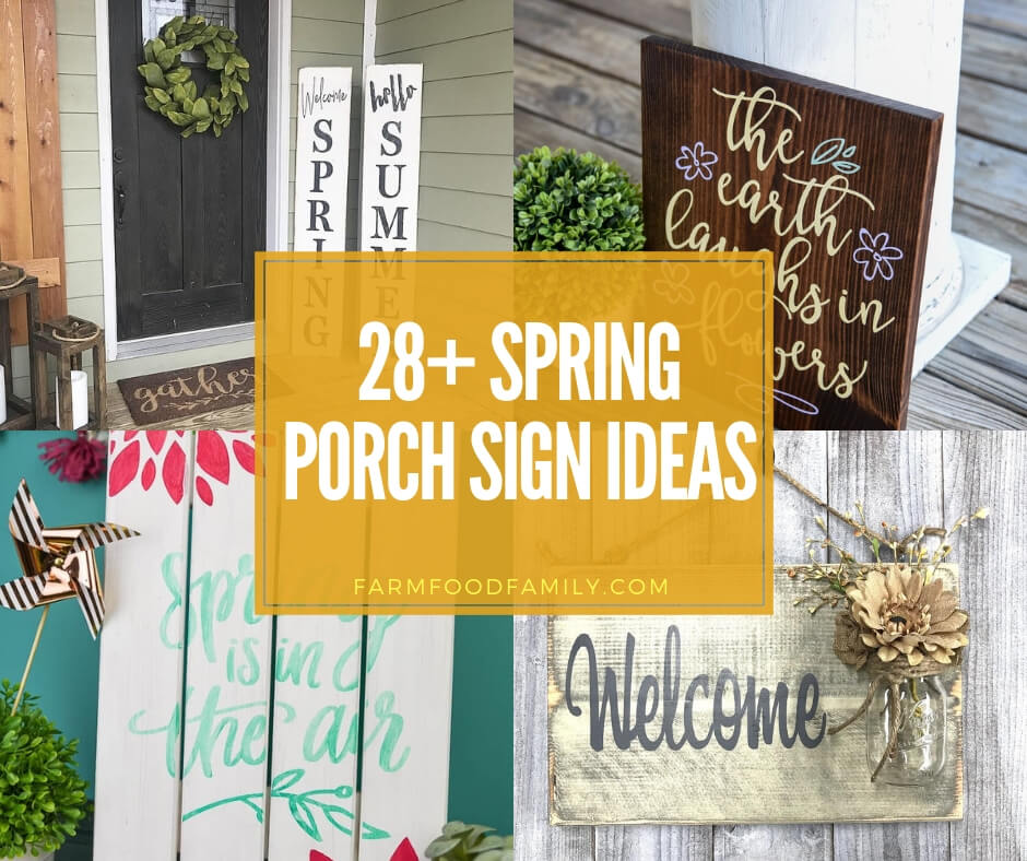 28 Best Stairway Decorating Ideas And Designs For 2020: 28+ Best Spring Porch Sign Decor Ideas & Designs For 2020