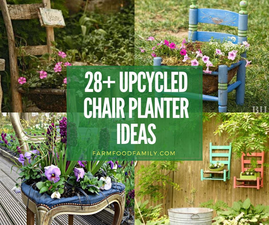 28+ Stunning Upcycled Chair Planter Ideas